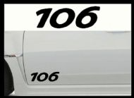 PEUGEOT 106 CAR BODY DECALS